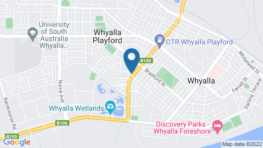 Whyalla Country Inn Motel Map