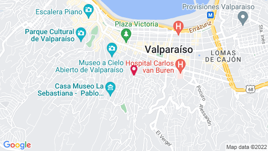 Winebox Valparaiso Map