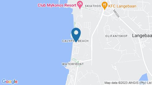 8 Santorini Self catering Map