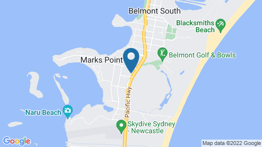 Belmont Palms Motel Map