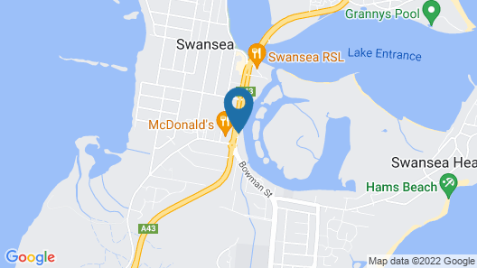 Black Swan Waterfront Motel - Not Suitable for Children Map
