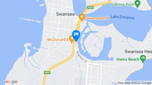 Black Swan Waterfront Motel Map