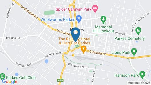 Hamilton's Henry Parkes Motor Inn, Parkes Map