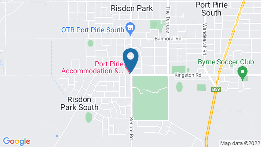 Port Pirie Accommodation and Apartments Map