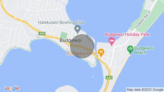 Budgewoi Pet Friendly Cottage Map