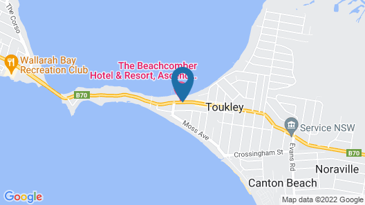 The Beachcomber Hotel & Resort, Ascend Hotel Collection Map