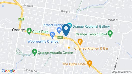Parkview Hotel Orange Map