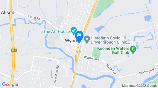 Grand Hotel Wyong Map
