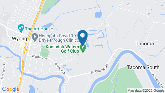 Mercure Kooindah Waters Central Coast Map