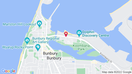 Discovery Parks - Bunbury Foreshore Map