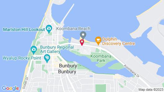 Quest Bunbury Apartment Hotel Map