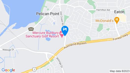 Mercure Bunbury Sanctuary Golf Resort Map