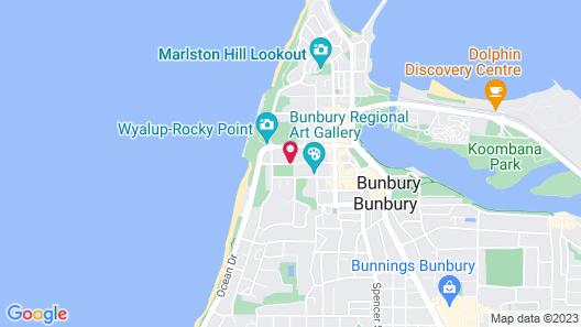 Dolphin Retreat Bunbury Map