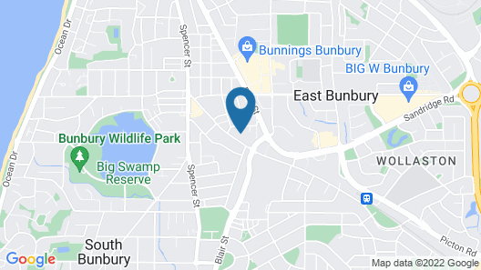 Bunbury Motel Map