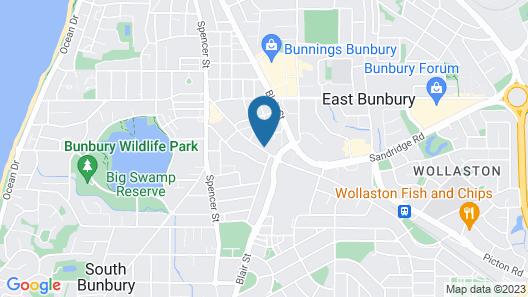 Bunbury Apartment Motel Map