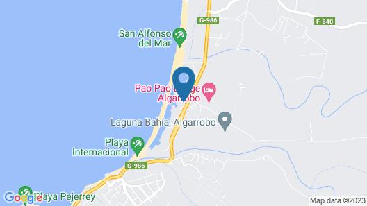 Departamento San Alfonso del mar Map