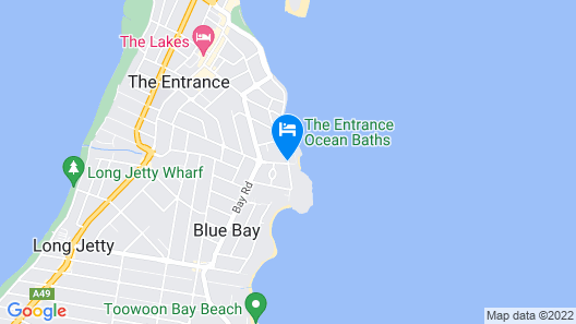 Ocean Front at The Entrance Map