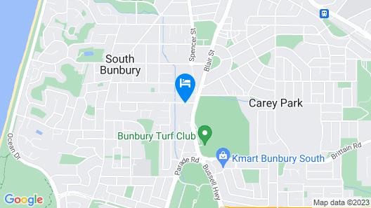 Bunbury Glade Caravan Park Map