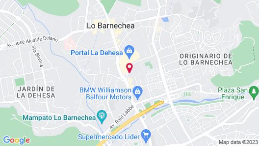 Hotel Pettra Santiago Map