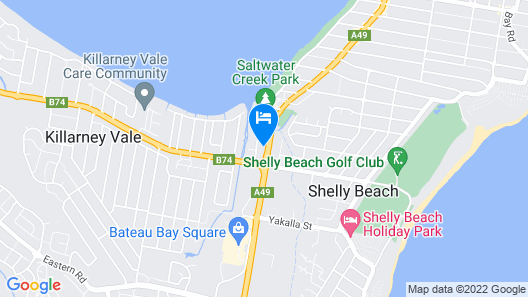 Central Jetty Motel Map