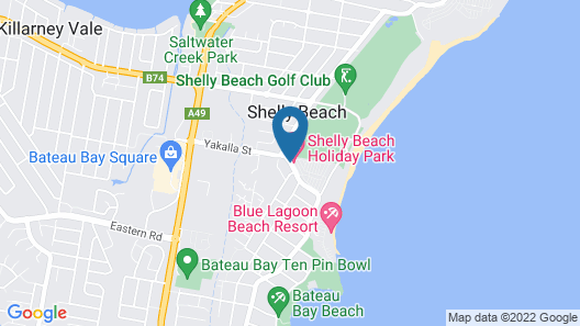 Shelly Beach Holiday Park Map