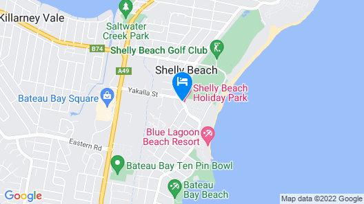 Shelly Beach Holiday Park Map