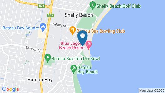 Blue Lagoon Beach Resort Map