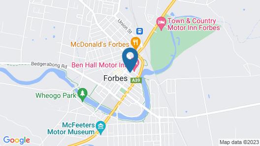 Country Mile Motor Inn Map