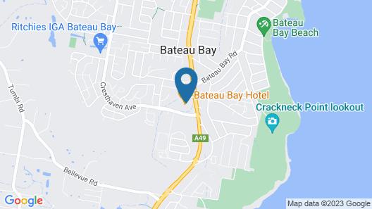 Bateau Bay Hotel Map