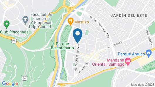NH Collection Santiago Casacostanera Map