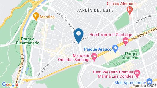Hotel Novotel Santiago Vitacura Map