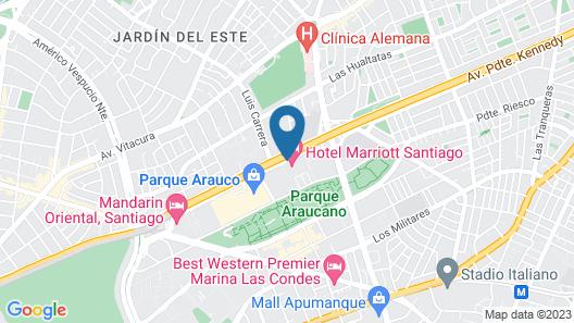 Santiago Marriott Hotel Map