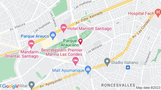 Hotel Plaza El Bosque Nueva Las Condes Map