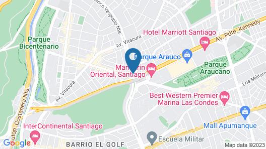 DoubleTree by Hilton Santiago Kennedy Map