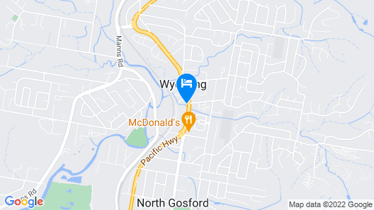 Gosford Resort and Conference Centre Map