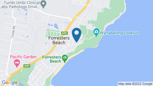 Forresters Beach Bed & Breakfast Map
