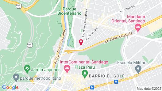 Pullman Santiago Vitacura (Ex Atton) Map