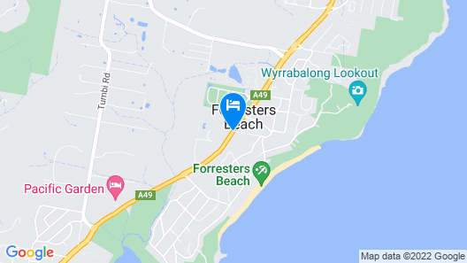Forresters Beach Resort Map