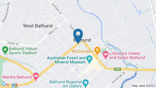 Bathurst Heritage Motor Inn Map