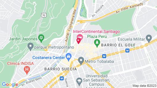InterContinental Santiago Map