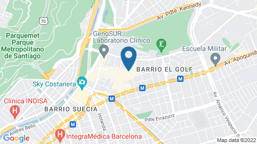 W Santiago Map