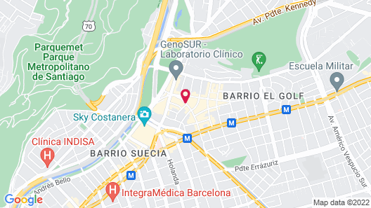 Hotel Plaza El Bosque Ebro Map