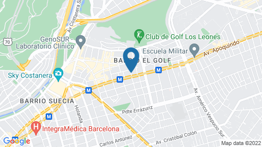 Hyatt Centric Las Condes Santiago Map