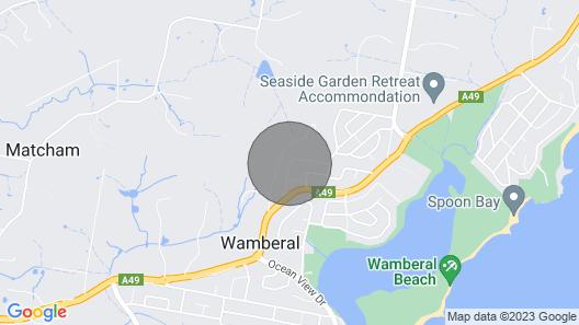 Entire Lower Deck - Wamberal Beach Views Map