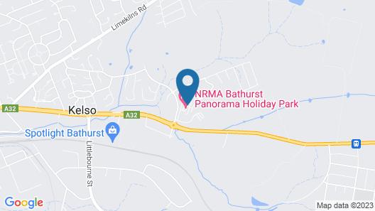 NRMA Bathurst Panorama Holiday Park Map