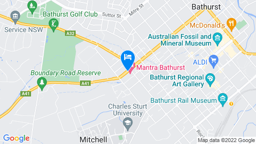 Quality Hotel Bathurst Map