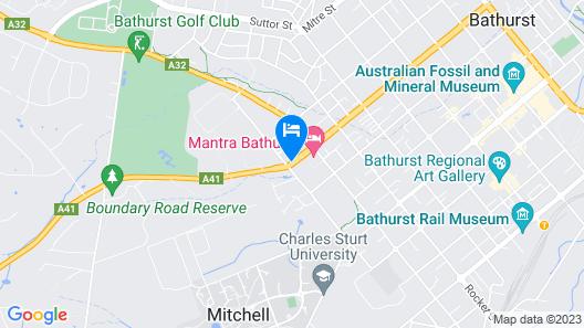 Bathurst Explorers Motel Map