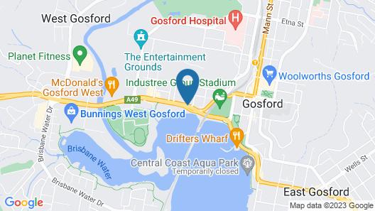 Waterview Gosford Motor Inn Map