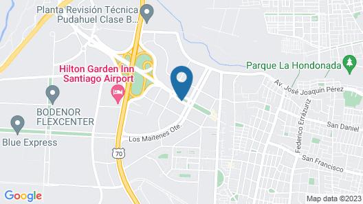 Hotel Manquehue Aeropuerto Map