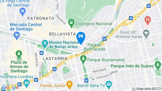 Tremo Hotel Boutique Parque Forestal Map